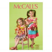 McCalls Girls & Doll Clothes Sewing Pattern 7109 Co-ordinating Dresses