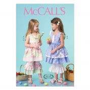 McCalls Girls Sewing Pattern 7110 Co-ordinating Dresses