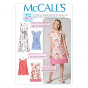 McCalls Girls Easy Sewing Pattern 7111 Simple Dresses & Belt