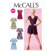 McCalls Ladies Easy Sewing Pattern 7115 Romper Jumpsuit & Dresses