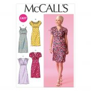 McCalls Ladies Easy Sewing Pattern 7116 Gathered Bodice Pullover Dresses