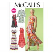 McCalls Ladies Easy Sewing Pattern 7119 Wrap Dresses in 4 Styles