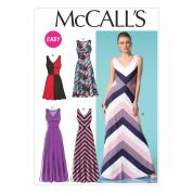McCalls Ladies Easy Sewing Pattern 7121 V Neck Colour Block Dresses