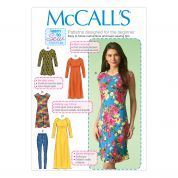 McCalls Ladies Easy Sewing Pattern 7122 Tunic Top, Dresses & Leggings