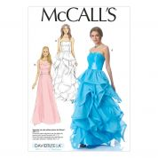 McCalls Ladies Sewing Pattern 7124 Glamorous Evening Dresses