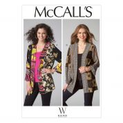 McCalls Ladies Sewing Pattern 7132 Colour Block Loose Fit Jackets