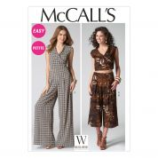 McCalls Ladies Easy Sewing Pattern 7133 Tops, Pants & Jumpsuit