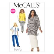 McCalls Ladies Plus Size Easy Sewing Pattern 7134 Tunic Tops, Skirt & Pants