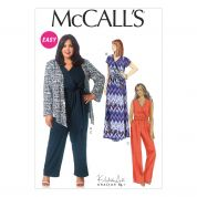 McCalls Ladies Plus Size Easy Sewing Pattern 7135 Dress, Jumpsuit, Jacket & Belt