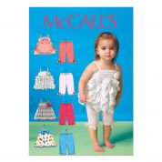 McCalls Baby & Toddlers Easy Sewing Pattern 7142 Tops & Leggings