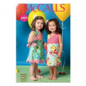 McCalls Girls Easy Sewing Pattern 7143 Wrap Over Dresses