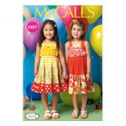 McCalls Girls Easy Sewing Pattern 7144 Tiered Summer Dresses