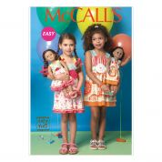 McCalls Girls & Doll Clothes Easy Sewing Pattern 7146 Matching Dresses