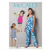 McCalls Girls Easy Sewing Pattern 7151 Top, Dress, Jumpsuit & Shorts