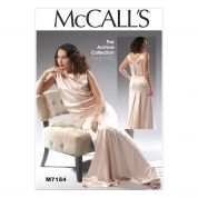 McCalls Ladies Sewing Pattern 7154 Vintage Style Evening Dress