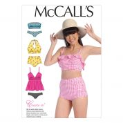 McCalls Girls Sewing Pattern 7168 Bikini Swimsuits