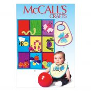 McCalls Baby Easy Sewing Pattern 7172 Bibs, Quilts & Bug Appliques