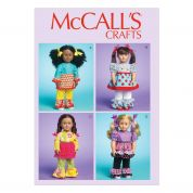 McCalls Doll Clothes Easy Sewing Pattern 7173 Complete Wardrobe