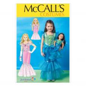 McCalls Girls & Dolls Sewing Pattern 7175 Mermaid Fancy Dress Costume