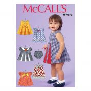 McCalls Baby & Toddler Easy Sewing Pattern 7177 Dresses & Panties