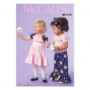 McCalls Girls Easy Sewing Pattern 7178 Top, Dress & Pants