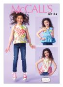 McCalls Girls Easy Sewing Pattern 7181 Summer Tops