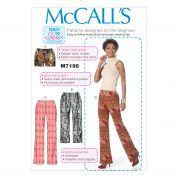 McCalls Ladies Easy Learn To Sew Sewing Pattern 7198 Shorts & Pants