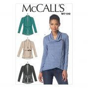 McCalls Ladies Easy Sewing Pattern 7199 Jackets in 4 Styles
