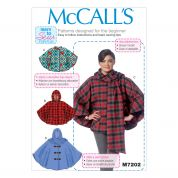 McCalls Ladies Easy Learn to Sew Sewing Pattern 7202 Ponchos