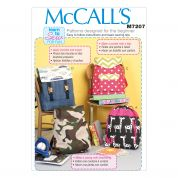 McCalls Childrens Easy Learn to Sew Sewing Pattern 7207 Backpacks