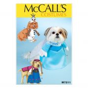 McCalls Pets Easy Sewing Pattern 7211 Dog Coats Frozen Costumes