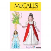 McCalls Girls Sewing Pattern 7212 Princess Fancy Dress Costumes