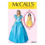 McCalls Ladies & Girls Sewing Pattern 7213 Princess Ballgown Fancy Dress Costumes