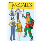 McCalls Family Sewing Pattern 7214 Ninja Turtles & Minions Costumes