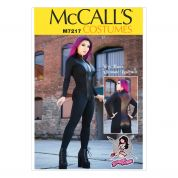 McCalls Ladies Easy Sewing Pattern 7217 Zippered Bodysuits