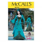 McCalls Ladies Sewing Pattern 7218 Peacock Jacket, Corset & Skirt Costume
