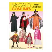 McCalls Childrens Sewing Pattern 7224 Tunic & Cape Costumes