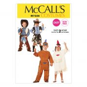 McCalls Childrens Sewing Pattern 7226 Cowboys & Indians Costumes
