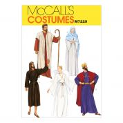 McCalls Ladies & Mens Sewing Pattern 7229 Christmas Nativity Costumes