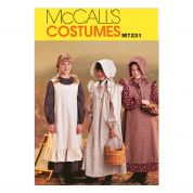 McCalls Girls Sewing Pattern 7231 Historical Pioneer Costumes