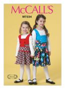 McCalls Girls Easy Sewing Pattern 7234 Pinafore Dresses