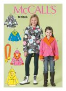 McCalls Girls Easy Sewing Pattern 7236 Jackets & Scarf