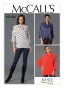 McCalls Ladies Easy Sewing Pattern 7252 Loose Fit Jersey Knit Tops