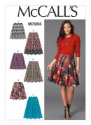 McCalls Ladies Easy Sewing Pattern 7253 Skirts in 6 Variations
