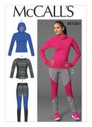 McCalls Ladies Easy Sewing Pattern 7261 Sports Tops & Leggings