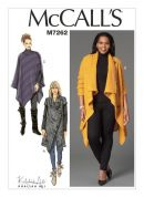 McCalls Ladies Easy Sewing Pattern 7262 Sweater Coat & Poncho