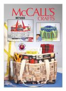 McCalls Craft Easy Sewing Pattern 7265 Project Tote Bags