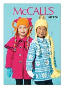 McCalls Girls Easy Sewing Pattern 7276 Coats, Hat, Scarf & Mittens