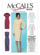 McCalls Ladies Sewing Pattern 7279 Tissue Fitting Method Dresses & Optional Collar