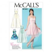 McCalls Ladies Sewing Pattern 7281 Party Dresses in 4 Styles